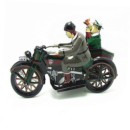 Vintage Motor Tricycle Wind Up Tin Toy