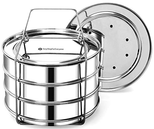 EasyShopForEveryone Stainless Accessories Stackable Pans, Po