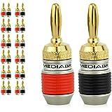 Mediabridge Banana Plugs - Corrosion-Resistant 24K Gold-Plated Connectors - 12 Pair/24 Banana Plugs (Part# SPC-BP2-12)