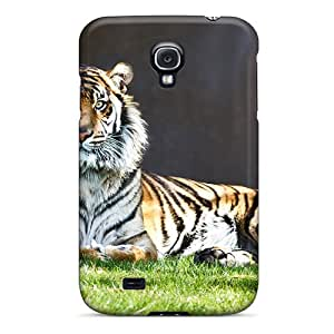 New Style BrownCases Hard Case Cover For Galaxy S4- Tiger Staring