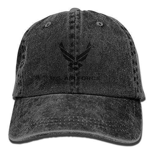 VHJLI US Air Force Vintage Washed Dyed Cotton Adjustable Plain Cowboy Cap