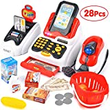 Victostar Toy Cash Register with Checkout Scanner,Fruit Card Reader, Credit Card Machine, Play