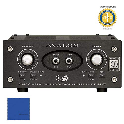 - Avalon Design U5 Single-Channel Instrument DI Preamp Black with Microfiber and 1 Year Everything Music Extended Warranty
