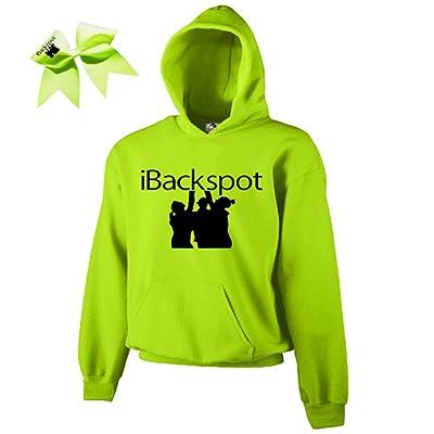 Neon Yellow iBackspot Cheer ComBow- Black Print