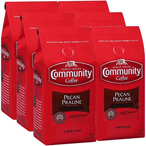 Community Coffee Premium Coffee 12 Ounce (Pack of 6) (Pecan Praline) ()