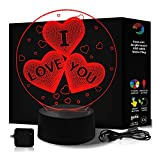 Best Gifted Living Gifted Living Table Lamps - I Love You Gifts 3D Illusion Night Light Review