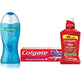 Palmolive Bodywash Thermal Spa Imported Shower Gel Combo - 250 ml and Colgate Maxfresh Toothpaste - 150 g with Spicyfresh Plax Mouthwash - 250 ml