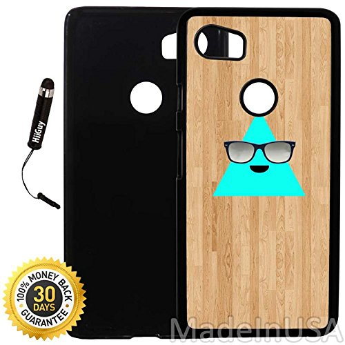 Custom Google Pixel 2XL Case (Cool Triangle with Sunglasses) Plastic Black Cover Ultra Slim | Lightweight | Includes Stylus Pen by - Are Cool Why Sunglasses