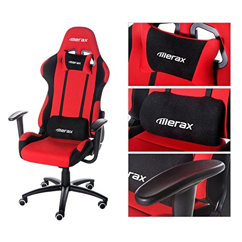 merax ergonomic office race car seat racing chair gaming chair executive computer chair black. Black Bedroom Furniture Sets. Home Design Ideas