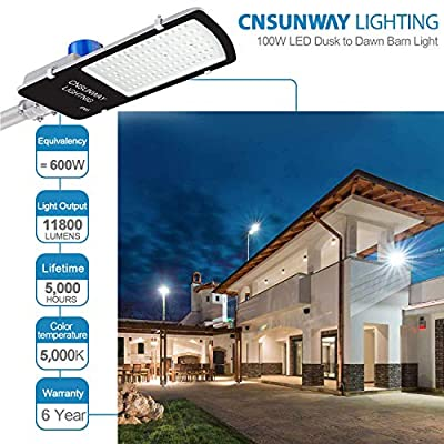 CNSUNWAY LED Street Light - with Photocell Dusk to Dawn