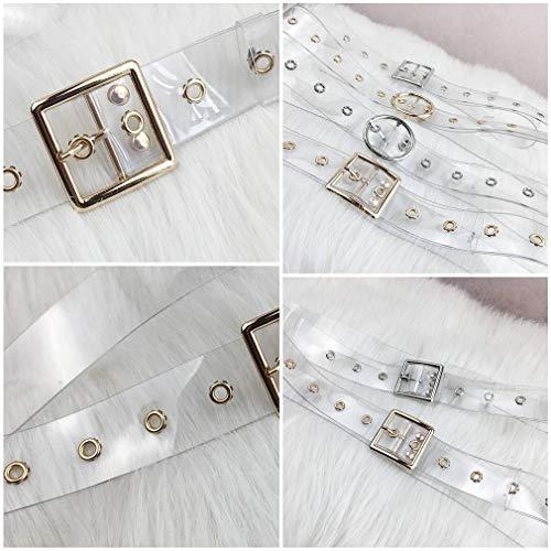 Vestono Cintura Pantaloni Yiyilai Trasparenti Nastri Regolabile Donne D'argento OqtXxw