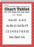 Top Notch Teacher Products Chart Tablet Polka Dot (1 1/2'' Ruled), Red, 24'' x 32''