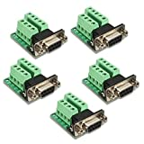 AIKE DB9 9-pin Female Adapter RS-232 Serial Port Interface Breakout Board Connector 5Pcs