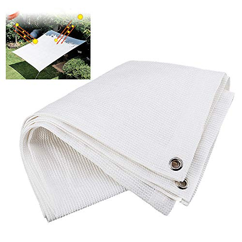 ZAZAP Heavy Mesh, Rectangular Sunshade Cloth, Fence and Screen, Suitable for Small Yard Decoration, Garden Terrace Camping, White ()
