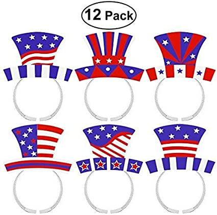 Brand New American Indepedence Long Patriotic Wig