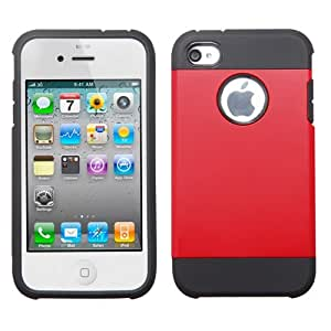 ASMYNA Red/Black Astronoot Phone Protector Cover for APPLE iPhone 4S/4