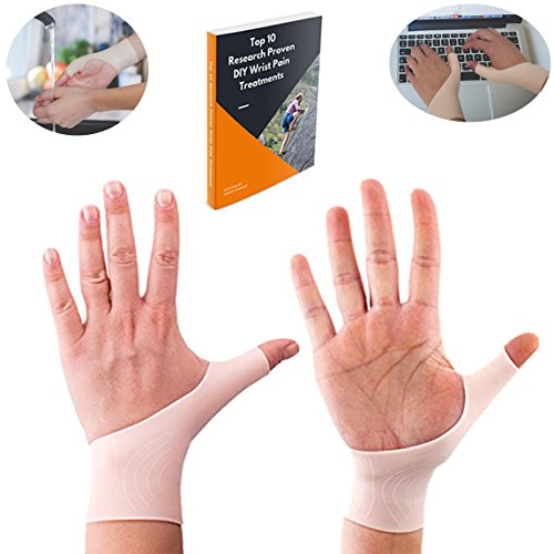 Red Stronger Wrist Support Braces For Men & Women With Bonus DIY Treatments Ebook - Premium Quality Gel Brace For Carpal Tunnel, Arthritis, Tenosynovitis by Red Stronger