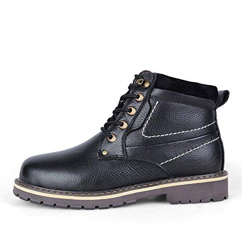 Haut Chaud ailishabroy À Imperméable Hiver Mens Noir Lacets Combat Chaussures Haut Bottines Randonnée v1pxFw1Aq