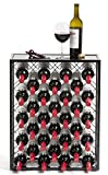 Mango Steam 32 Bottle Wine Rack with Glass Table