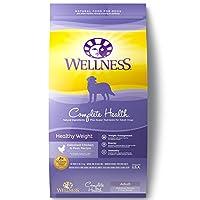 Wellness Complete Health Alimentos naturales secos, saludables para perros, pollo y guisantes, bolsa de 26 libras
