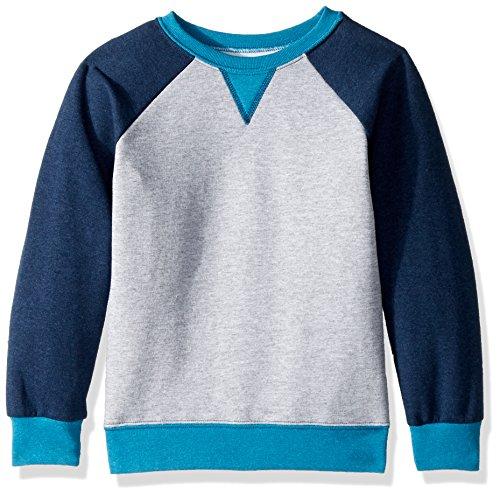 Fruit of the Loom Boys' Big Fleece Crewneck Sweatshirt, Athletic T.Blue Amulet Teal Heather, X-Large