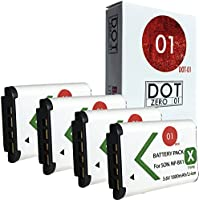 4x DOT-01 Brand Sony DSC-HX300 Batteries for Sony DSC-HX300 Camera and Sony HX300 Battery Bundle for Sony BX1 NP-BX1