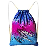 Cheap Play Tailor Mermaid drawstring Bag, Sequin Bag Reversible Sequin Backpack Sling Bag Dance bag