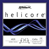 D'Addario Helicore Cello Single A String, 3/4 Scale, Medium Tension
