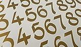 Vintage Style Die Cut Vinyl Numbers (3 inch, Soft Metallic Gold)