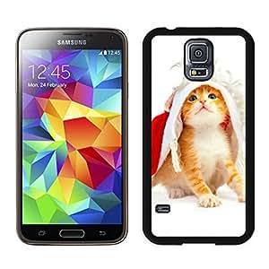 Custom-ized Phone Case Christmas Cat Black Samsung Galaxy S5 Case 48