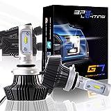 BPS Lighting G7 LED Headlight Bulbs Kit w/Clear Arc Beam 50W 8000LM 6000K - 6500K White Philips Luxeon ZES LED Headlight Conversion for Replace Halogen Bulb Headlights 2 Yr Warranty - (2pcs/set) (9006/HB4, 6500K)