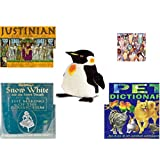 "Children's Gift Bundle - Ages 6-12 [5 Piece] - Justinian Intrigue At The Emperor's Court Game - I Love Ice Cream 1000 Piece Puzzle - Melissa & Doug Penguin Large Plush 24"" - Snow White and the Seven"