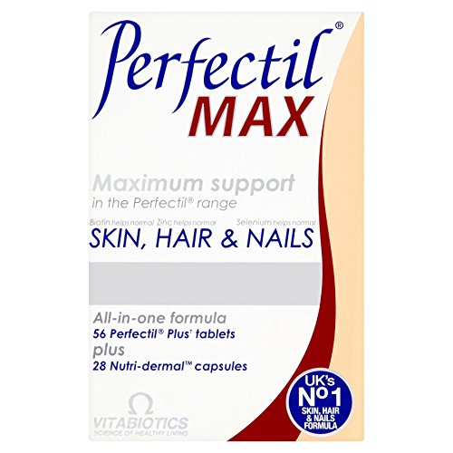(Perfectil 4 X Vitabiotics Max Maximum Support Skin, Hair & Nails 84 Tablets/Capsules )