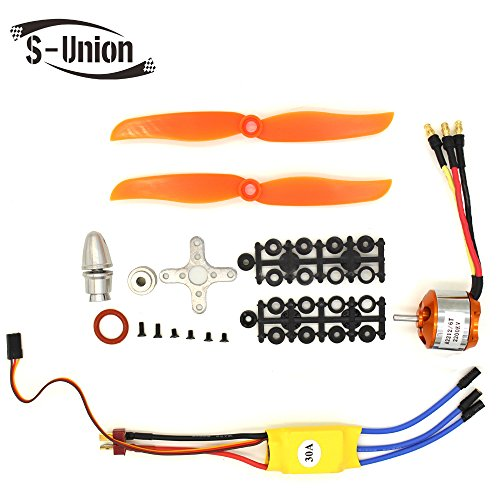 S-Union New Replacement 30A ESC + RC 2200KV A2212/6T Brushless Motor Used for RC Plane helicopter (with Macroporous pulp and Holes pulp) (Rc Plane Parts)
