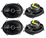 Best 6x8 Car Speakers - 4 Kicker 41DSC684 D-Series 6x8 400 Watt 2-Way Review
