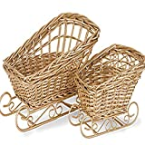 Gold Painted Basket (10-Sets of 2)(20 Total Baskets)