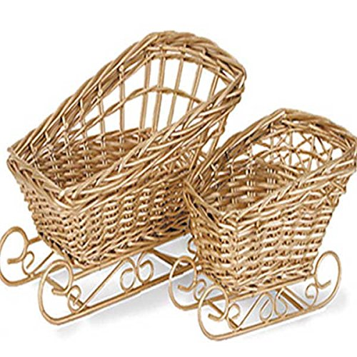 Gold Painted Basket (10-Sets of 2)(20 Total Baskets) by suppliesforgiftbasket