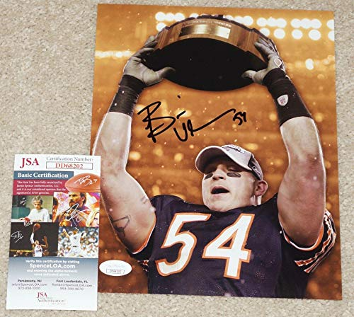 Brian Urlacher Signed Picture - #54 Champs 8x10 + COA DD68202 - JSA Certified - Autographed NFL Photos