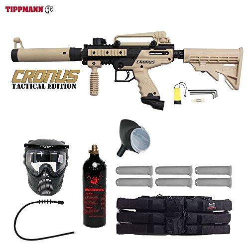 MAddog Tippmann Cronus Tactical Titanium Paintball Gun Package – Black/Tan Review