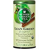 The Republic Of Tea Lean Green Supergreen Tea, 36 Tea Bags, Matcha And Garcinia Cambogia Tea Blend