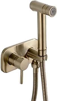 Trustmi Bathroom Concealed Hot And Cold Bidet Spray Set Hand Held Sprayer Shattaf Toilet Attachment Brushed Gold Amazon Com