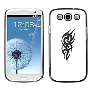 For SAMSUNG Galaxy S3 III / i9300 / i747,S-type® Celtic Gang Tattoo White Black - Arte & diseño plástico duro Fundas Cover Cubre Hard Case Cover
