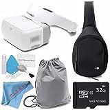 DJI Goggles FPV Headset CP.PT.000672 + DJI Sling Bag for Mavic Pro and Goggles CP.PT.000879 + DJI Goggles Sleeve CP.PT.000878 + Fibercloth + 32GB microSDHC Card + Deluxe Cleaning KitBundle