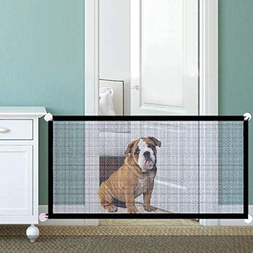 GSDJU Magic Dog Gate Cerca de Malla ingeniosa para Perros para Interiores y Exteriores Caja Fuerte de Seguridad para Mascotas Puerta para Perros Suministros para Mascotas: Amazon.es: Productos para mascotas