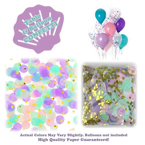 Mermaid Tails Under The Sea Decorations Supplies Kit for Birthday, Bridal & Baby Shower Themed Let's Be Little Mermaids Party - Premium Quality by PomPomGLAM Photo #5