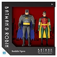 Batman: The Animated Series Batman and Robin 5 1/2-Inch Bendable Action Figures