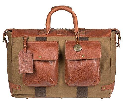 Good Leather - Will Leather GoodsTraveler Duffel Bag, Canvas Weekender Bag - Tobacco