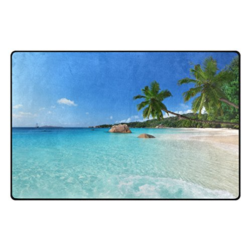 Cooper girl Hawaii Summer Beach Decorative Floor Rug Cover Pad for Living Room Bathroom Office Kid Children 60x39 Inch by Cooper girl