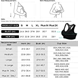 FITTIN Racerback Sports Bras for Women- Padded