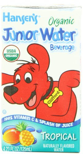 Hansen's Organic Tropical Junior Water, 4.23 Ounce Boxes (Pack of 44)